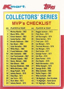 1982 Kmart Checklist